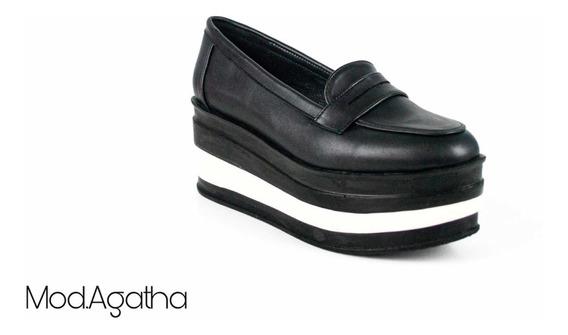 Zapatos Mujer Plataforma Negro