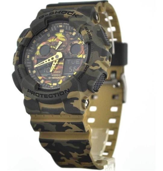 Relógio Casio G-shock Ga100cm5 Verde Original