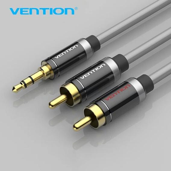 Cabo De Áudio Vention P2 3.5mm X Rca Estéreo Premium 1,0 Mt