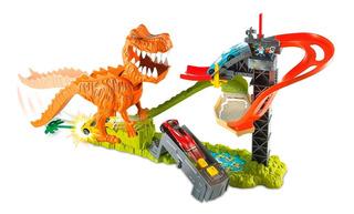 Pista De Carros Hot Dinosaurio T Rex Wheels Con Sonidos