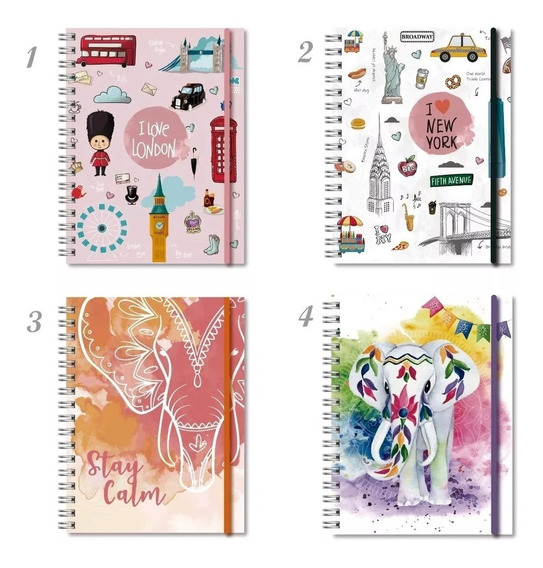 Agenda 2020 N8 23x17,5cm Semana Espiralada Lisas/diseños