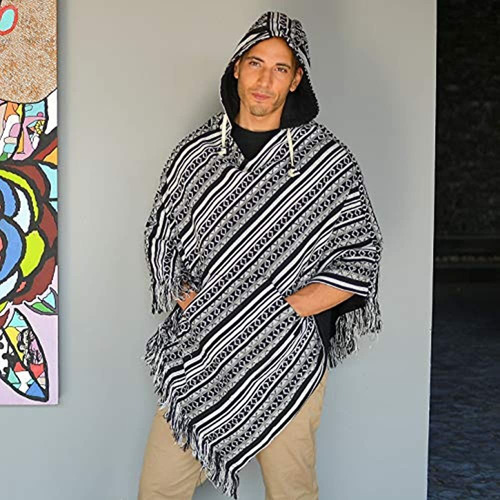 Virblatt Poncho Baja Sudadera Hippie Hombre Hippie Poncho Ne