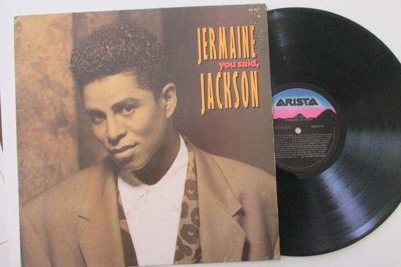 Jermaine Jackson, Lp You Said, 1992 (leia Descrição