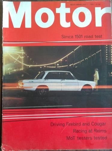 Revista Motor - Inglesa - Julho 1967