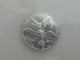 Moneda 1 Onza Plata Libertad Pura Ley .999