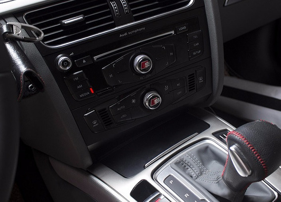 Emblema Audi S Line Sline Botão Controle Rádio Acessório A4
