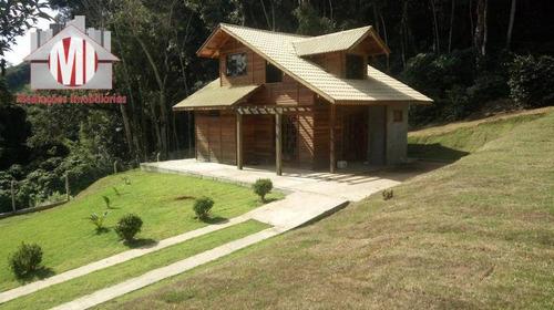 Chácara Nova, Maravilhosa, Acabamento Todo Em Madeira De Lei, Com 2 Dormitórios, À Venda, 5990 M² Por R$ 320.000 - Rural - Socorro/sp - Ch0755