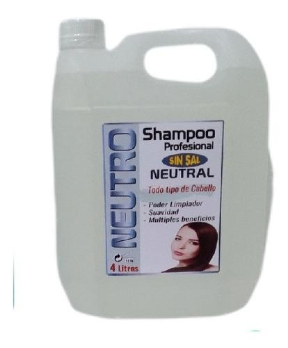 Shampoo Galón Para Peluquería Sin Sal - L a $7250