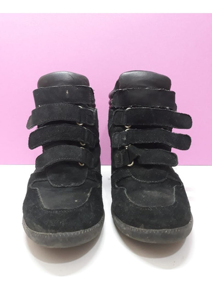 Desapego De Sapato - Tênis Sneaker Camurça Tam 37