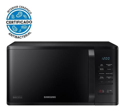 Imagen 1 de 8 de Microondas Samsung Negro Con Esmalte Cerámico 23 L