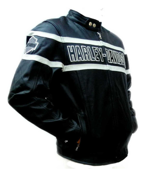 Chamarra Para Caballero Tipo Harley-davidson De Piel (1.5mm)