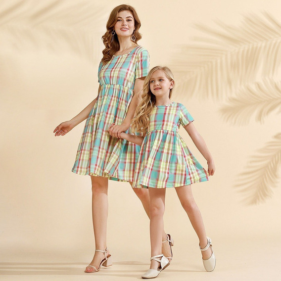 Ropa Duo Mama E Hija Vestido Rayas