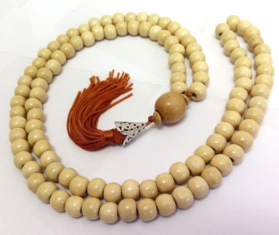Japamala 108 Contas Madeira Marfim 10mm + Saquinho + Brinde