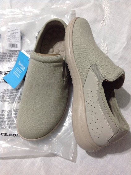 Tênis Crocs Reviva Canvas Slipon Khaki Cobblestone