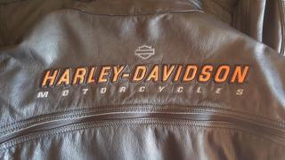 Chamarra Piel Harley Davidson Original