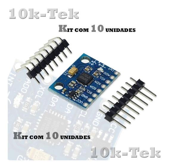 10 X Sensor Mpu6050 Acelerômetro E Giroscópio De 3 Eixos Ard