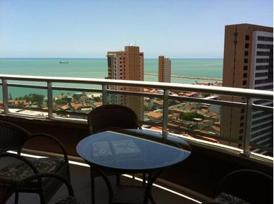 Apartamento Com 1 Quarto À Venda Ou Locação, 46 M² , Vista Mar, Suíte, Mobiliado, Área De Lazer - Praia De Iracema - Fortaleza/ce - Ap0977