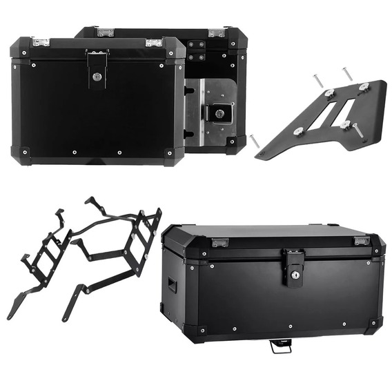 Kit 3 Bau Moto Roncar Aluminio Top Case 56 Side Case 33 Litros Bmw F800gs F 800 Gs