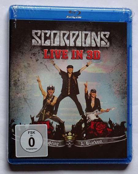 Scorpions - Live In 3d (blu-ray Lacrado, Novo E Original)