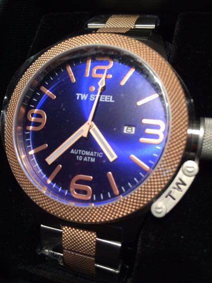 Tw Steel 2 Tone Canteen Bracelet 45mm Mens Watch