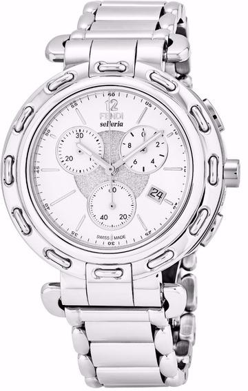 Reloj Fendi Selleria Acero Inox Plata Hombre F89034h.br8653