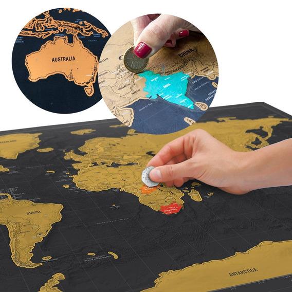 Mapa Del Viajero Para Raspar Edición Deluxe Negro