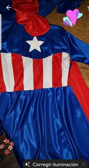 Disfraz De Superheroina Capitán América