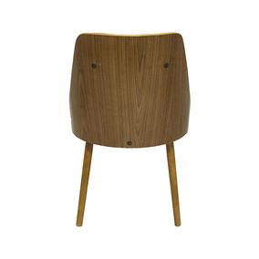 Cadeira Com Encosto Vergado Retrô Vermelho E Pés Em Madeira