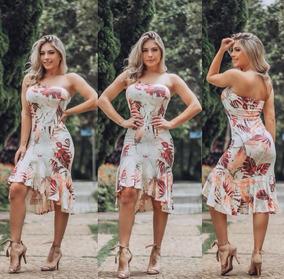 Vestido Feminino Midi Tomara Que Caia Com Bojo 2018