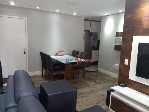 Apartamento Com 2 Dormitórios À Venda, 90 M² Por R$ 595.000,00 - Bethaville - Barueri/sp - Ap2232
