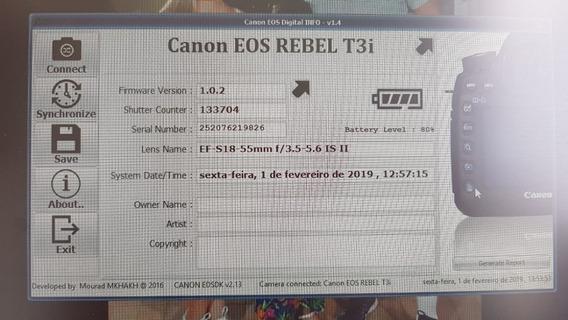 Câmera Canon T3i Só Corpo - Estudo Propostas
