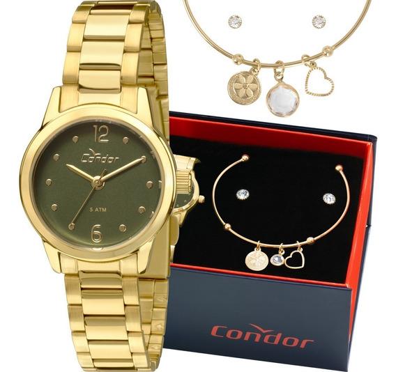 Kit Relógio Condor Feminino Barato + Brinde Garantia Nfe