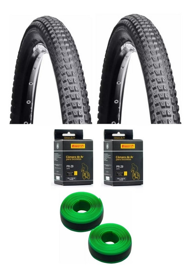 Par Pneu Bike Mtb Vee Rubber Aro 29x2.10 + 2 Camara + 2 Fita