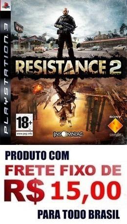 Jogo Resistance 2 Ps3 Mídia Física Frete 15 Reais