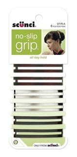 Scunci No Slip Grip Open Center Stay Tight Barrettes, Assort