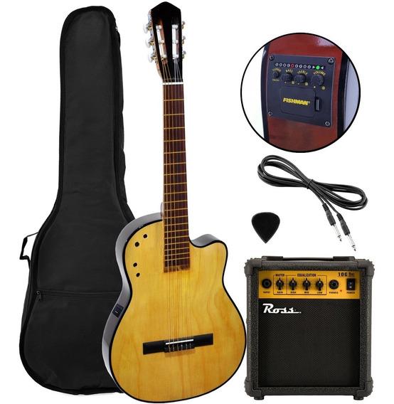Guitarra Electrocriolla Eq Fishman Funda Ampli T/ Alpujarra