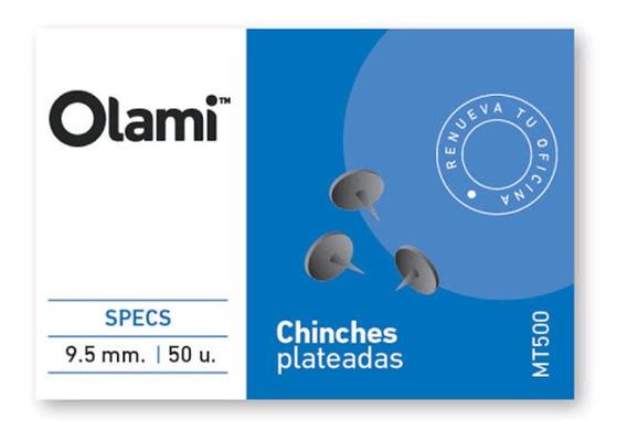 Chinche Plateada Caja X 50 Unidades 9.5mm