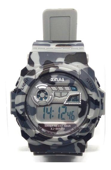 Relógio Masculino Digital Xinjia Camuflado 5atm