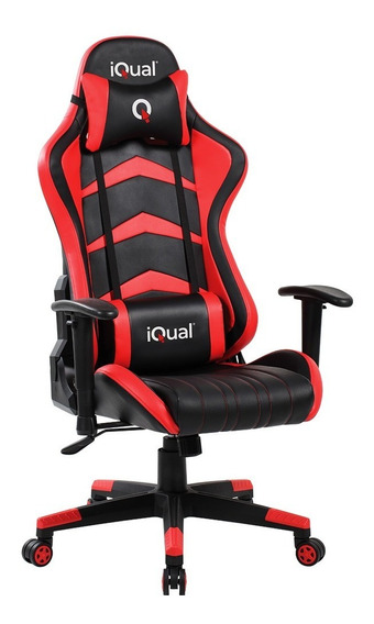 Silla Butaca Gamer Iqual 15hq Reclinable Almohadones Oficial