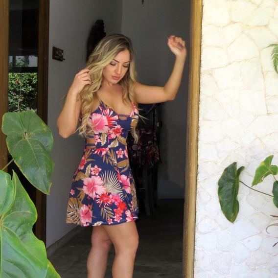 Vestido Curto Florido Com Bojo Feminino Verão + Brinde70