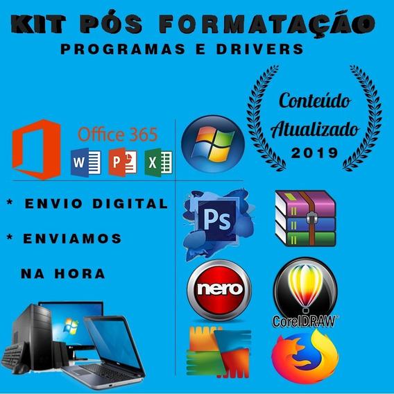 Kit Técnico Pós Formatação Programas E Drivers Automaticos