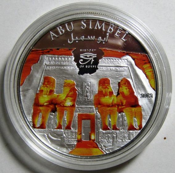 Islas Cook 1 Dolar Niquel 2012 Egipto Abu-simbel Proof