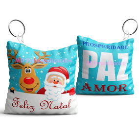 Lembrancinha De Natal Chaveiro Almofada - 50 Peças