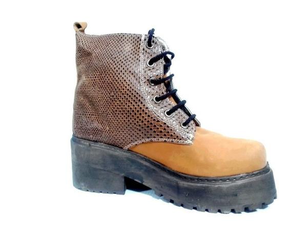Botita Borcego Calzado Zapato Plataforma Madera Comodas Y Livianas Botitas Zapatos Mujer Fiorcalzados