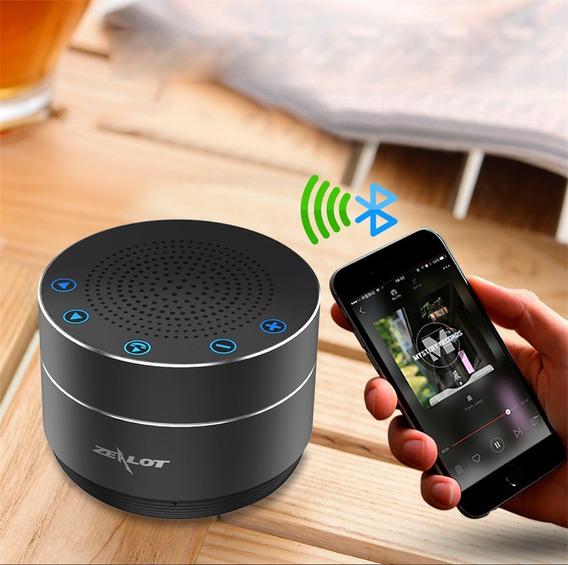 Caixa De Som Zealot S19 Stéreo Wifi Bluetooth Cor Preta
