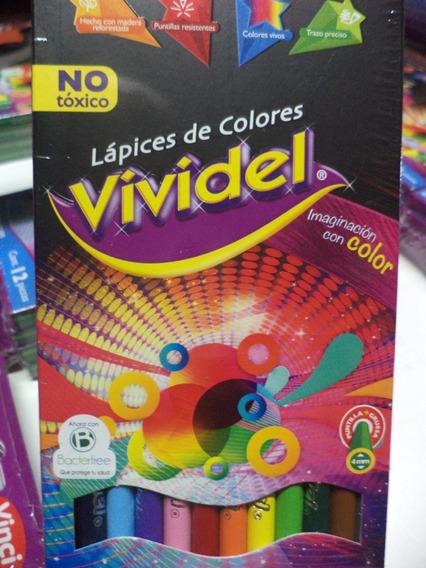 Lapices De Colores Vividel 12 Largos