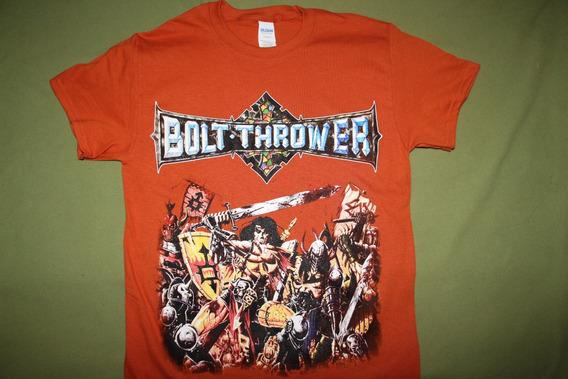 Gusanobass Playera Rock Metal Death Bolt Thrower Warmaster S