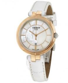 Relógio Tissot Feminino Flamingo Madre Pérola Branco/dourado