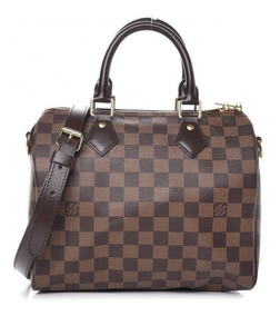 Louis Vuitton Speedy 25 Damier Ebene Couro C/ Código Serie