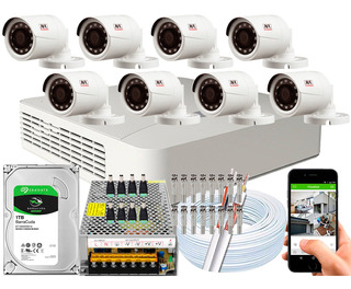 Kit Cftv 8 Câmeras Jfl Chd-2230p Full Hd 1080p 2mp Dvr 08 Ch